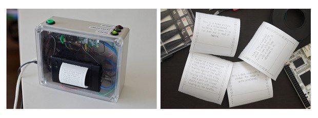 Descriptive camera: la macchina fotografica che scatta foglietti testuali