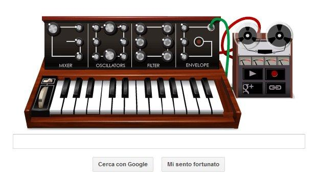 Google omaggia Robert Moog, il doodle suona come un synth
