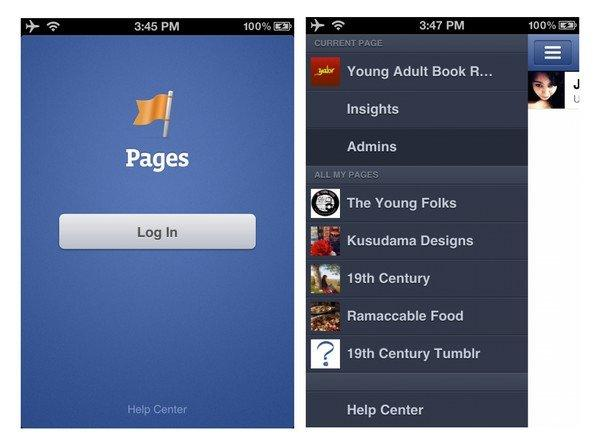 Facebook App: Page Manager