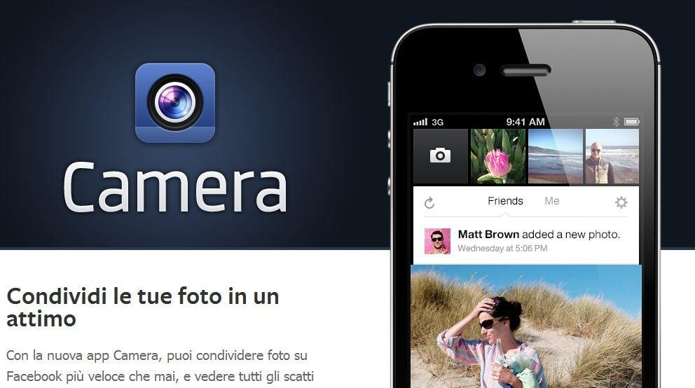 Facebook Camera: ecco l'app fotografica di FB per iOS [BREAKING NEWS]