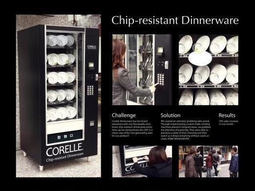 La creatività invade i distributori automatici