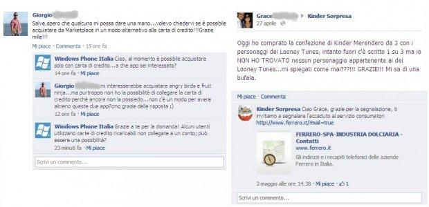 Best practices per i brand su facebook: Customer care