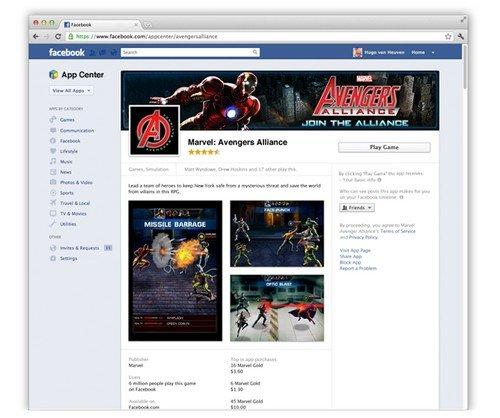 Facebook App Center Pagina Dettaglio App