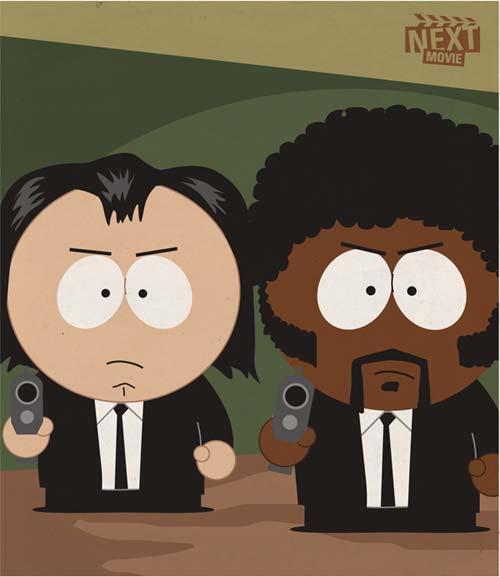 Icone di film cult versione South Park