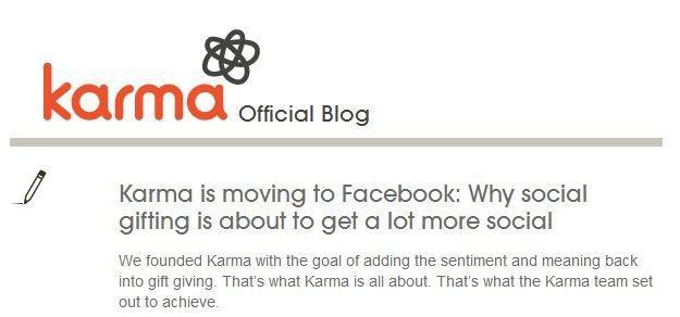 Facebook ha acquistato anche Karma
