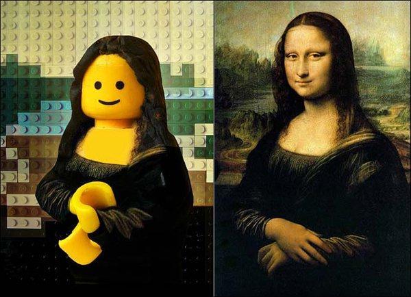 Lego su tela, l'arte in formato mattoncino