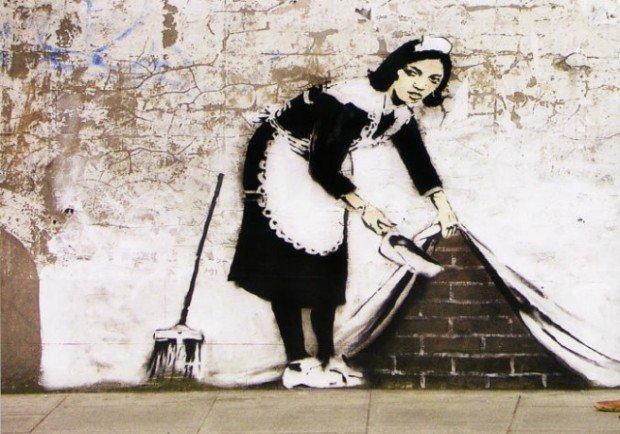 Gli stencil di Banksy prendono vita attraverso l'obiettivo di Nick Sterns