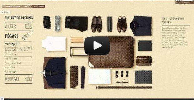 Louis Vuitton e l'arte di fare la valigia