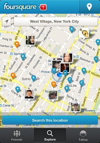 Nuovo restyling per Foursquare!