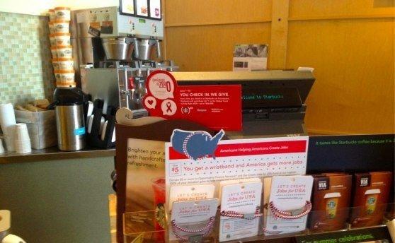 Starbucks e Foursquare contro l'AIDS