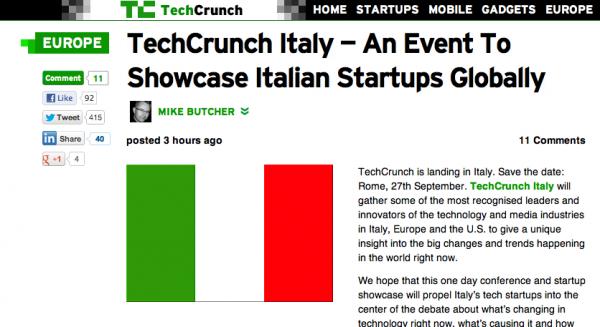 TechCrunch Italy, in arrivo il maggior evento europeo dedicato a digitale e startup [BREAKING NEWS]