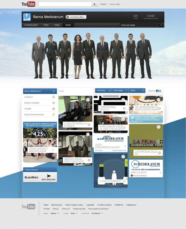 Banca Mediolanum: come lanciare il canale YouTube con la TV [INTERVISTA]