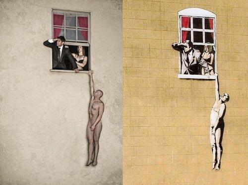 You are not Banksy: le opere di Banksy trasformate in foto
