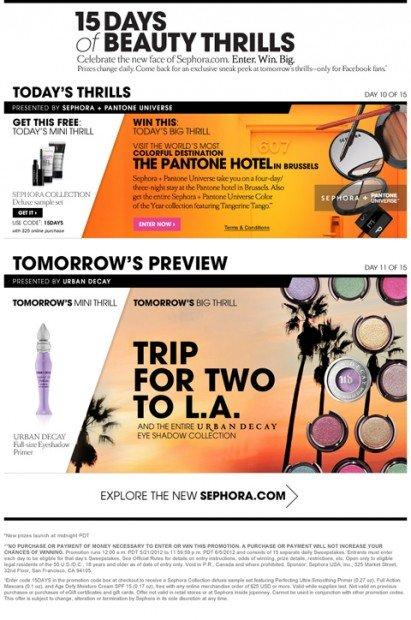 Sephora e la campagna facebook