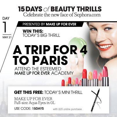 15 Days of Beauty Thrills - Sephora