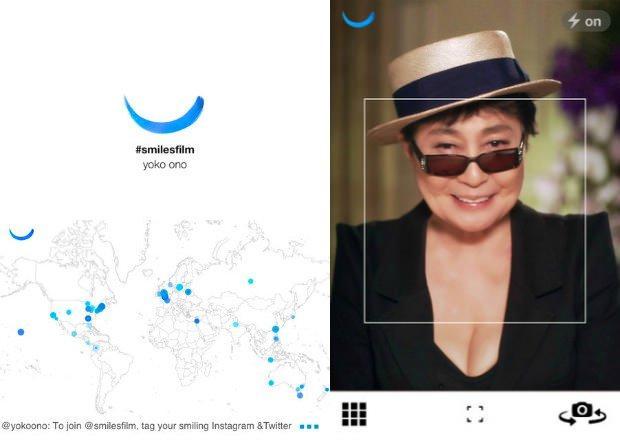 Smiles Film: sorridi, grazie a Twitter e Instagram sei nell'ultima opera di Yoko Ono!