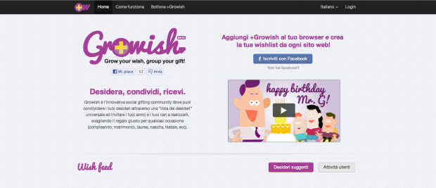 Growish: Desidera. Condividi. Ricevi. [INTERVISTA]