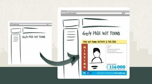 404 – Person Not Found – La pagina di errore che aiuta le ricerche dei bambini scomparsi