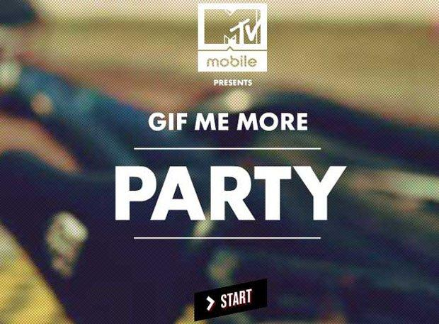 "MTV ""Gif Me More Party"": la campagna interattiva di Buzzman"