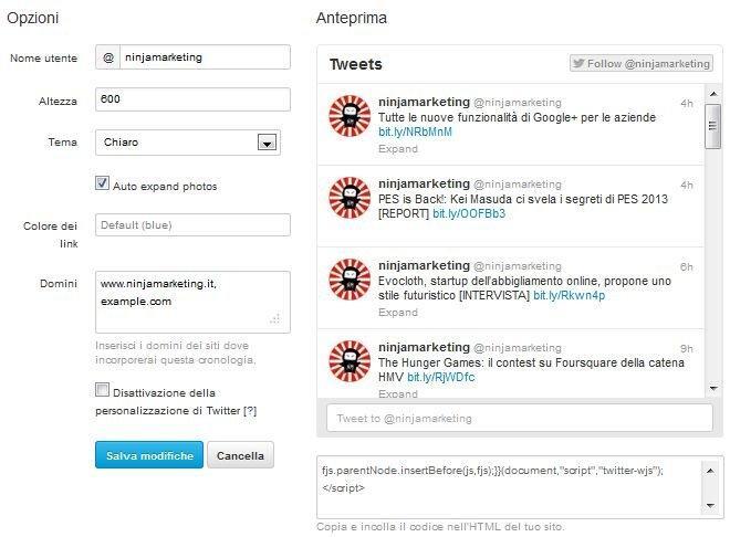 Twitter: ecco come creare timeline integrabili su siti e blog [BREAKING NEWS]