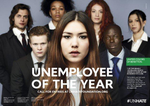 "Benetton ""Unemployee of the year"": contro l'indifferenza e la stigmatizzazione"