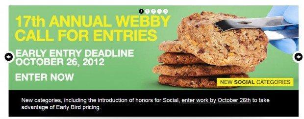 Webby Awards 2013: Si aprono le iscrizioni alla diciassettesima edizione! [EVENTO]