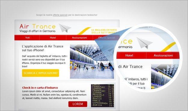 Il menu: dalla newsletter al sito
