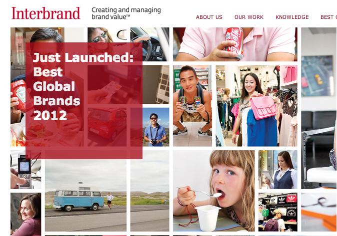 Interbrand pubblica la classifica dei migliori brand al mondo 2012