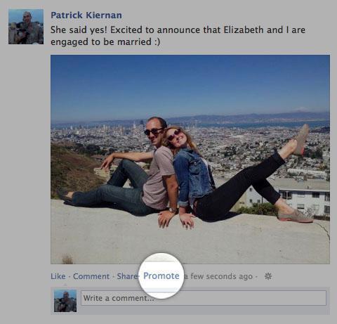 Facebook sta testando i promoted post anche per i profili personali