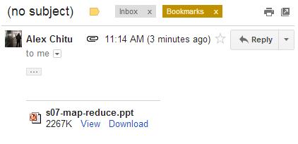 la nuova funzione di ricerca allegato su gmail
