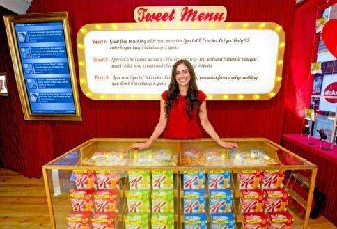 Kellogg's tweet shop e BOS Twitter machine: pronti a pagare a suon di cinguettii?