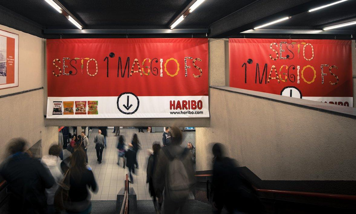 Haribo lancia la Gummyfication alla stazione di Milano [VIDEO]