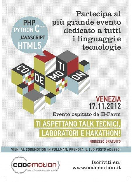 Codemotion: il 17 novembre per parlare di tutti i linguaggi e tecnologie! [EVENTO]