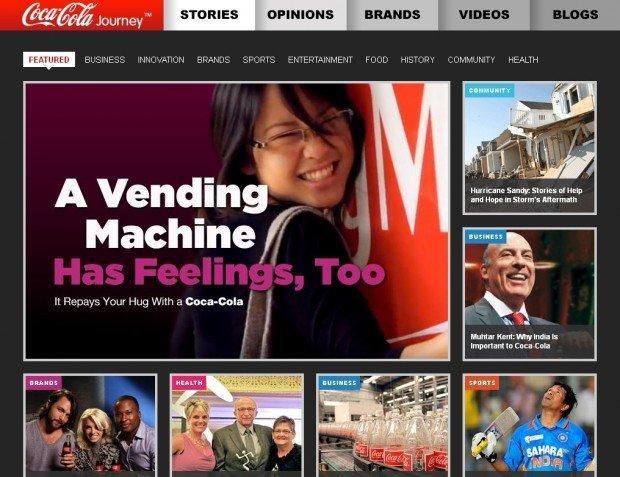 Il sito di Coca Cola diventa un magazine online, con Coca Cola Journey!