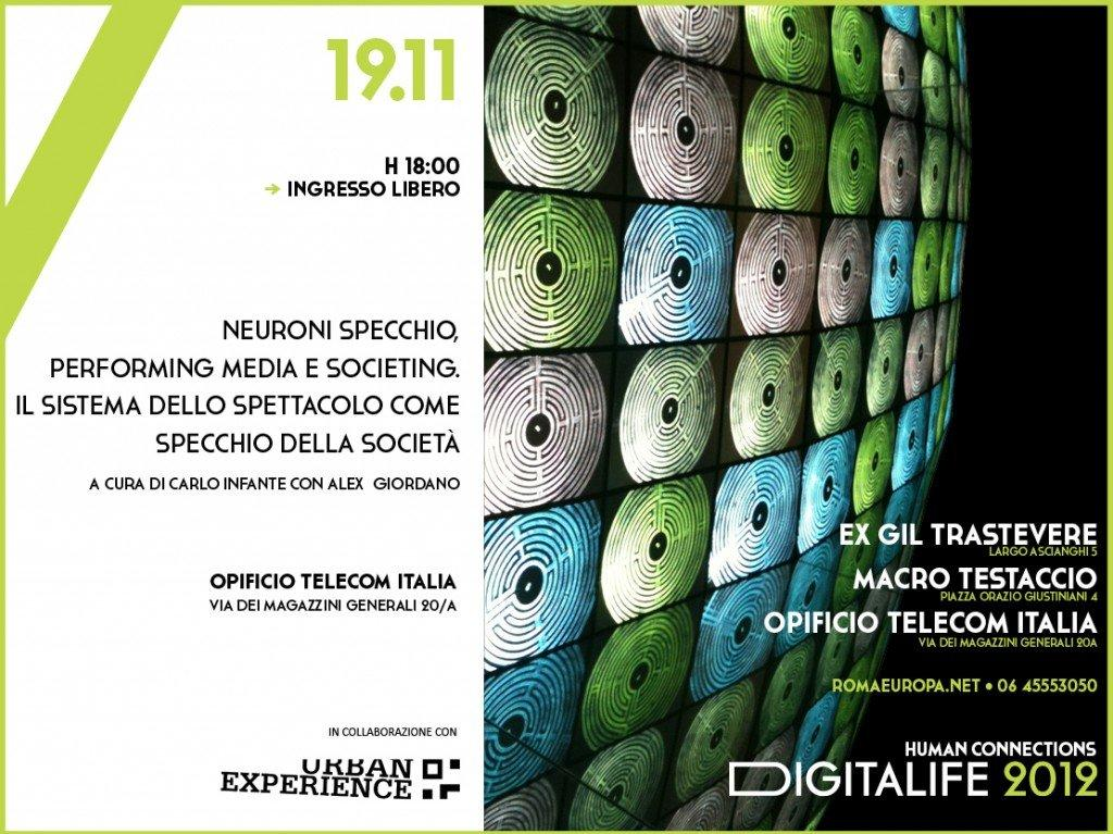 Digitalife: Neuroni specchio, performing media e societing [EVENTO]
