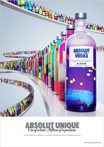 Absolut unique: 1 vodka, 4 milioni di bottiglie