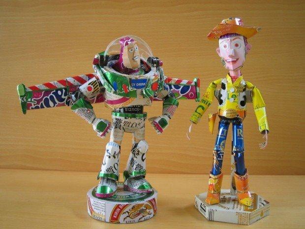 Le eco-sculture pop di Makaon