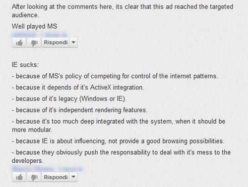 Internet Explorer 10 fa meno schifo. Parola di Microsoft [VIDEO]