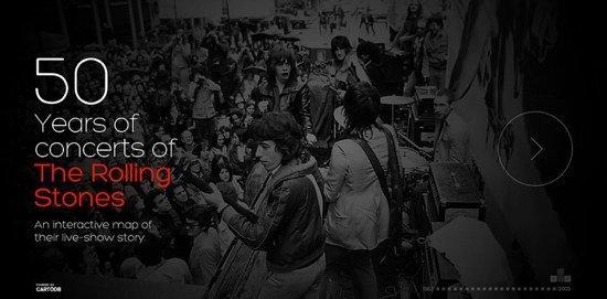 50 anni di tour dei Rolling Stones [INFOGRAFICA]