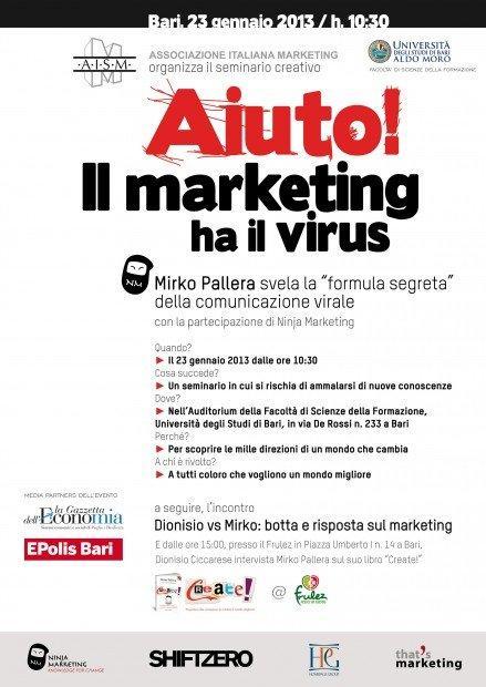 Progettare idee contagiose con Mirko Pallera a Bari [EVENTO]