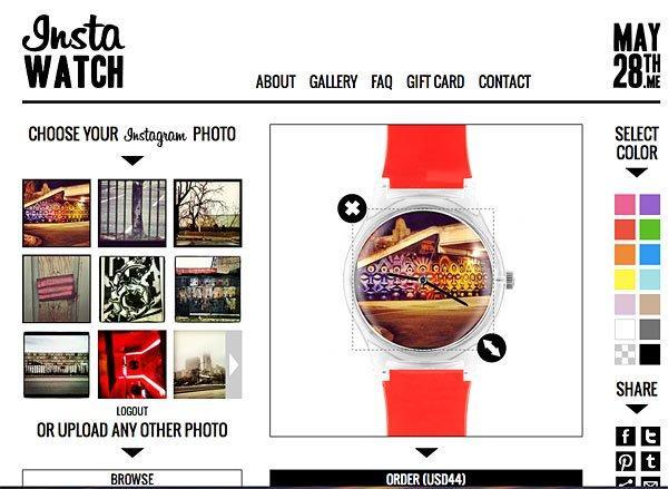 InstaWATCH, le tue foto di Instagram sull'orologio