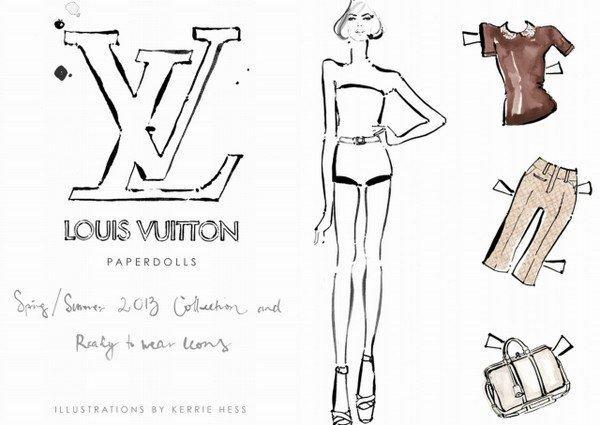 Louis Vuitton: bamboline di carta per la collezione P/E 2013