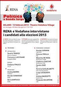 Politica a Banda Larga: RENA e Vodafone intervistano i candidati [EVENTO]