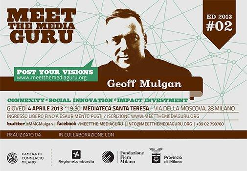 Meet The Media Guru il 4 Aprile ospita Geoff Mulgan [EVENTO]