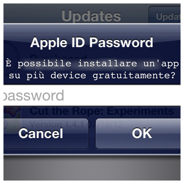 Apple: è possibile installare la stessa app su più device?