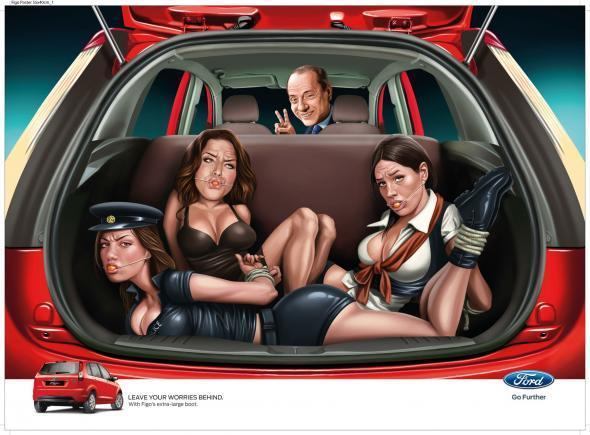 Berlusconi, arte e cinema nei migliori annunci stampa della settimana