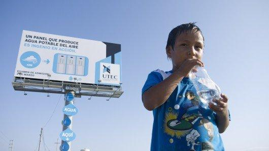 "Un Billboard ""green"" che produce acqua potabile"