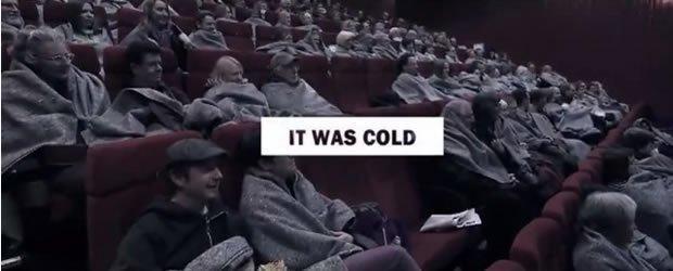 Frozen Cinema: il marketing creativo a favore dei senzatetto [VIDEO]