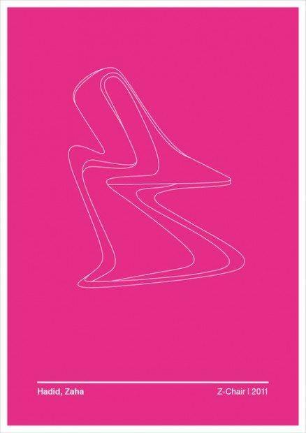 Le sedie-icona del design nelle illustrazioni minimal di Andrea Locci