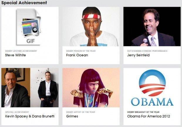 Annunciati i vincitori dei Webby Awards 2013